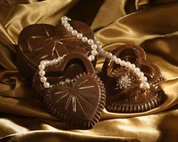 Solid Chocolate Jewelry Boxes photo
